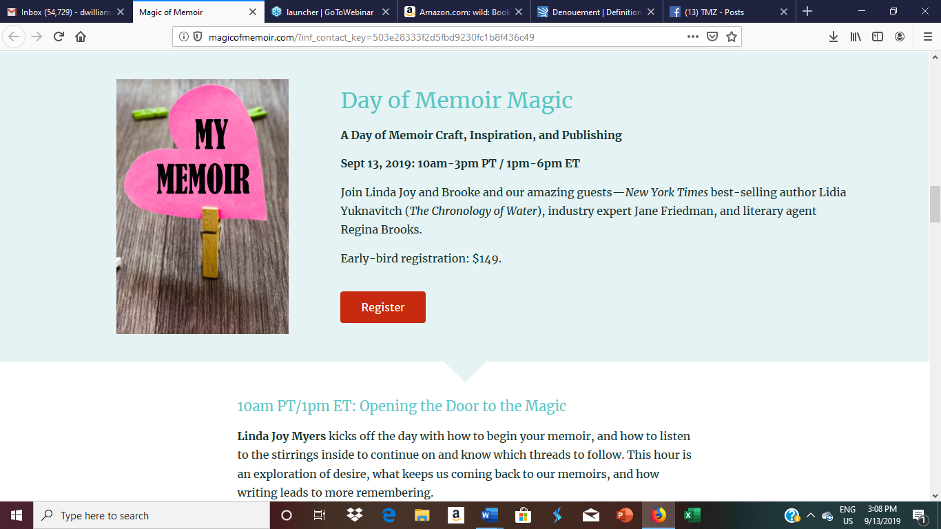 Day of Memoir Magic craft workshop